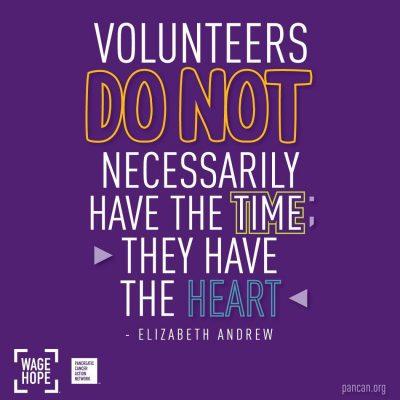 Pancreatic Cancer Action Network Volunteer Fair