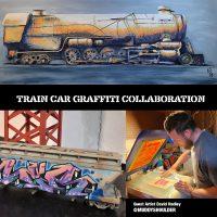Trains and Graffiti Art Collaboration 2nd Saturday Reception