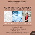How to Read a Poem: A 6-Week Poetry Class