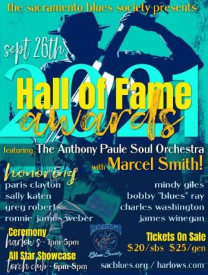 Sacramento Blues Society Presents 2021 Hall of Fam...