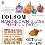 Handblown Glass Pumpkin Patch
