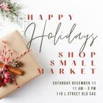 Happy Holidays Shop Small Market
