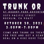 Trunk or Treat at Quarry Park Adventure