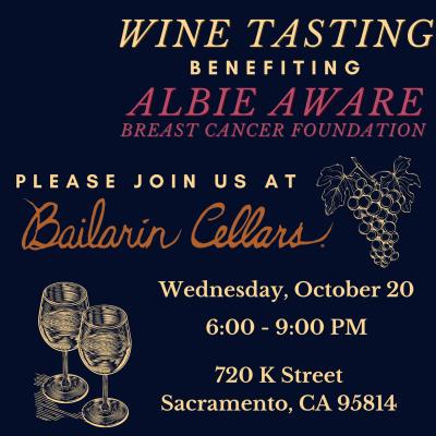 Wine Tasting for Albie Aware at Bailarin